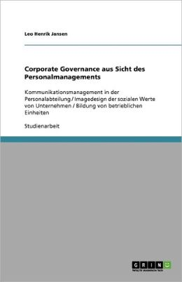 Corporate Governance Aus Sicht Des Personalmanagements