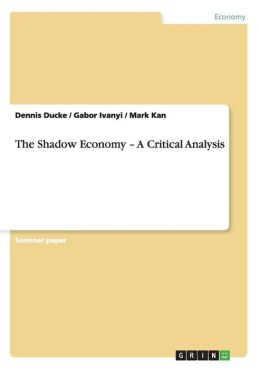 The Shadow Economy A Critical Analysis