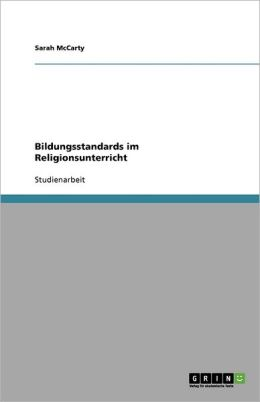 Bildungsstandards Im Religionsunterricht