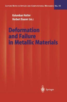 Deformation and Failure in Metallic Materials
