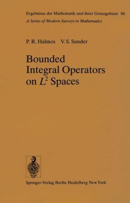 Bounded Integral Operators on L2 Spaces