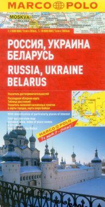 Russia, Ukraine, Belarus Marco Polo Map