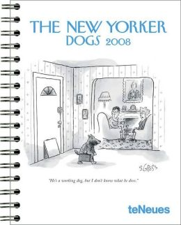 2008 The New Yorker Dogs Deluxe Large Engagement Calendar
