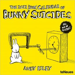 2012 Andy Riley Bunny Suicides Wall Calendar