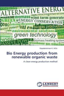 Bio Energy Production From Renewable Organic Waste