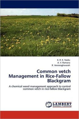 Common Vetch Management In Rice-Fallow Blackgram