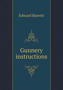 Gunnery instructions