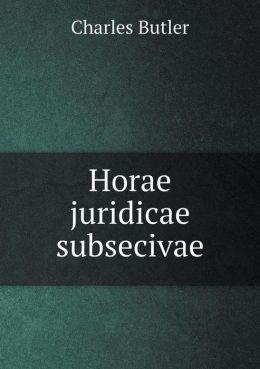 Horae juridicae subsecivae