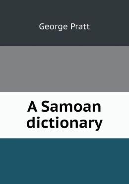A Samoan dictionary
