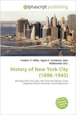 History of New York City (1898-1945)