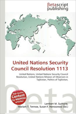 United Nations Security Council Resolution 1113