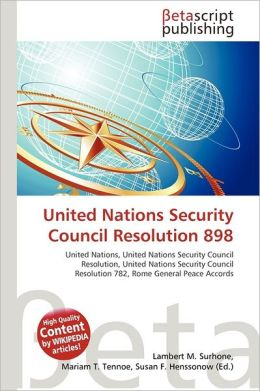 United Nations Security Council Resolution 898