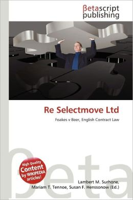 Re Selectmove Ltd