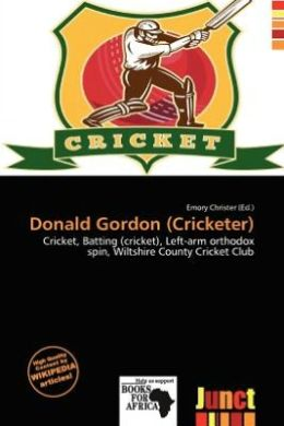 Donald Gordon (Cricketer)