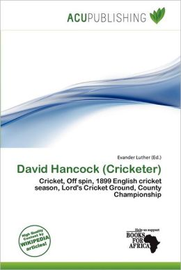 David Hancock (Cricketer)