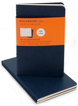 Moleskine Cahier Navy Blue Pocket Ruled Journal, Set of 3
