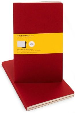 Moleskine Cahier Red Large Squared Journal, Set of 3