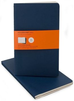 Moleskine Cahier Navy Blue Large Ruled Journal, Set of 3