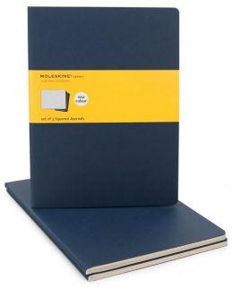 Moleskine Cahier Journal (Set of 3), Extra Large, Squared, Indigo Blue, Soft Cover (7.5 x 10)