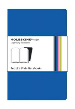 Moleskine Volant Extra Large Plain Notebook, Antwerp/Prussian Blue Set of 2