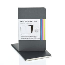 Moleskine Volant Extra Small Plain Notebook, Slate/Gray Set of 2