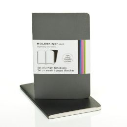 Moleskine Volant Pocket Plain Notebook, Slate/Gray Set of 2
