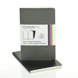 Moleskine Volant Pocket Plain Notebook, Slate/Gray Set of 2