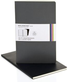 Moleskine Volant Large Ruled Notebook, Slate/Gray Set of 2