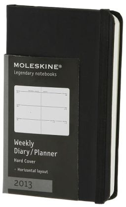 2013 Weekly Horizontal Planner - Extra Small - Black Cover
