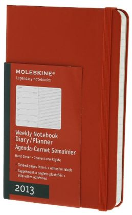 2013 Weekly Notebook - Pocket - Hard Red Cover
