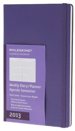 2013 Colored Planner - Weekly Horizontal - Large Bright Violet Hard Cover