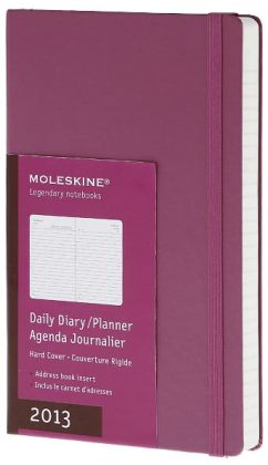 2013 Colored Planner - Daily - Large Pink Hard Cover