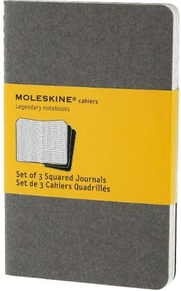 Moleskine Cahier Journal Grey Pocket Square 5.5x3.5