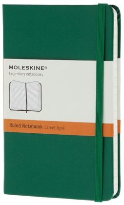 Moleskine Classic Pocket Ruled Oxide Green Notebook