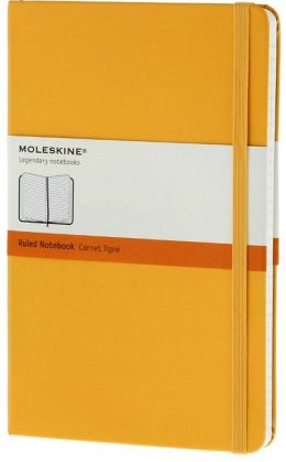 Moleskine Classic Large Ruled Yellow Notebook