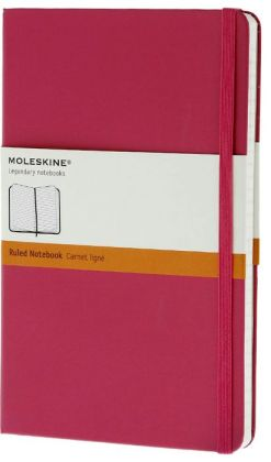 Moleskine Classic Large Ruled Magenta Notebook