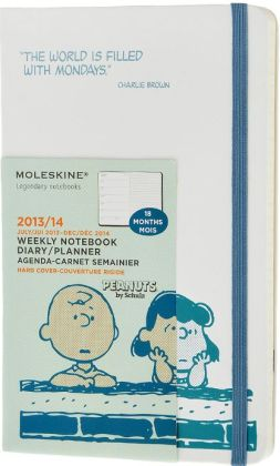 2014 18 Month Limited Edition Planner - Peanuts - Weekly Notebook - Large - White - Hard Cover