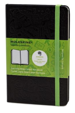 Moleskine Evernote Pocket Ruled Smart Notebook