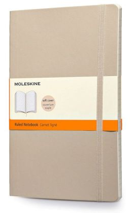 Moleskine Classic Soft Khaki Beige Large Ruled Notebook