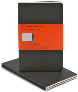 Moleskine Cahier Black Pocket Ruled Journal, Set of 3
