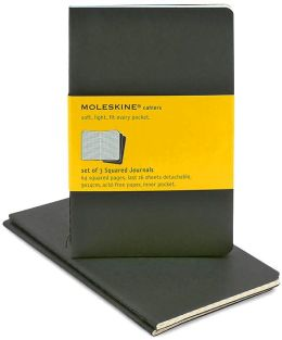 Moleskine Cahier Black Pocket Squared Journal, Set of 3