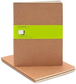 Moleskine Cahier Kraft Extra Large Plain Journal, Set of 3