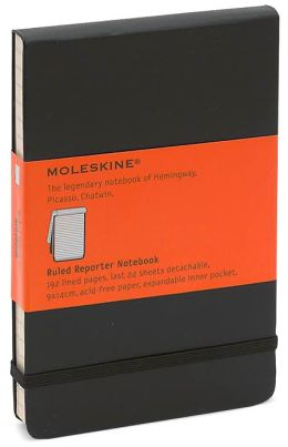 Moleskine Classic Pocket Ruled Reporter Notebook