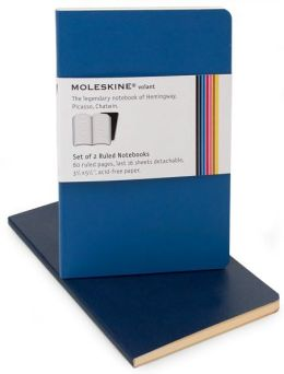 Moleskine Volant Pocket Ruled Notebook, Antwerp/Prussian Blue Set of 2