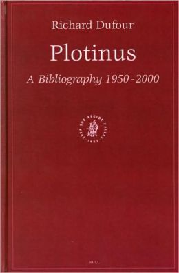 Plotinus: A Bibliography 1950-2000