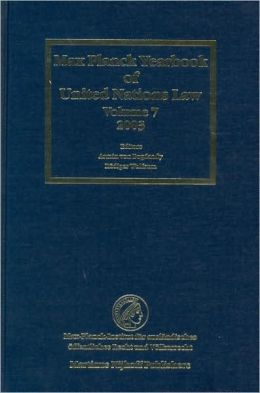 Max Planck Yearbook of United Nations Law, Volume 7 (2003)