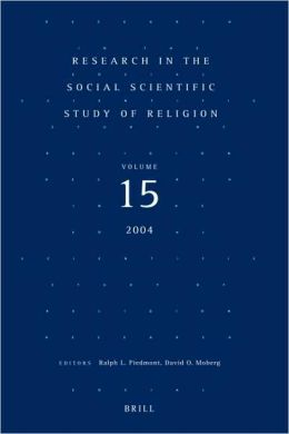 Research in the Social Scientific Study of Religion, Volume 15