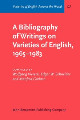 A Bibliography of Writings on Varieties of English, 1965-1983