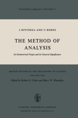The Method of Analysis: Its Geometrical Origin and Its General Significance