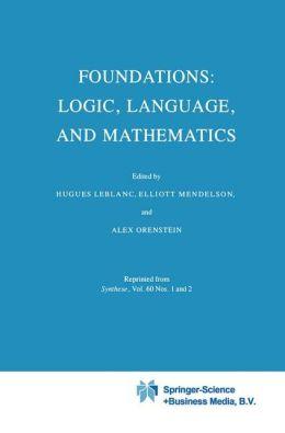 Foundations: Logic, Language, and Mathematics